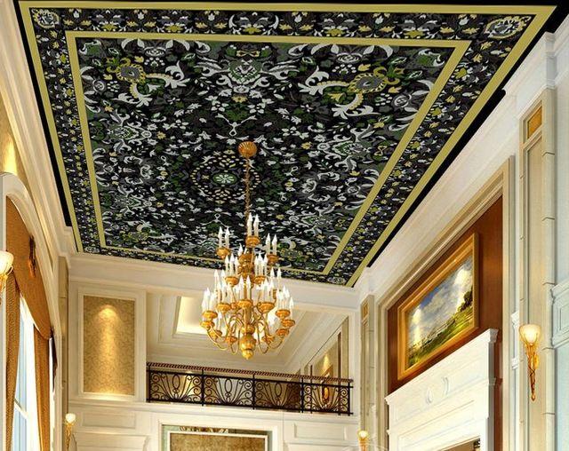 17 beste idee n over behang plafond op pinterest vogel muurbehang en structuur behang - Wallpaper volwassen kamer trendy ...