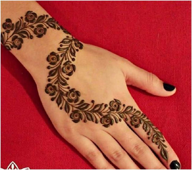 Simple Yet Stylish Mehndi Design Rose Mehndi Designs Henna