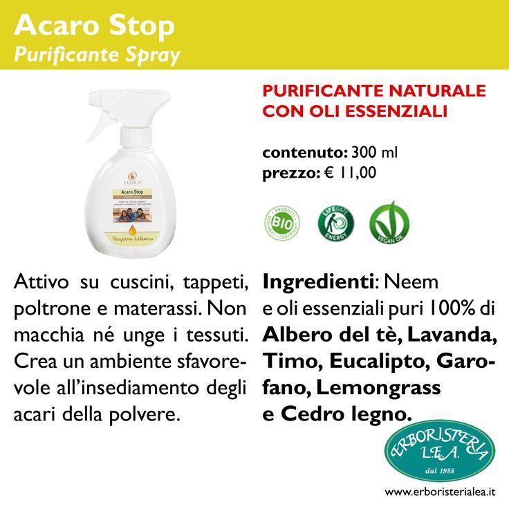 Acaro Stop - per la pulizia di tappeti, cuscini...  www.erboristerialea.it