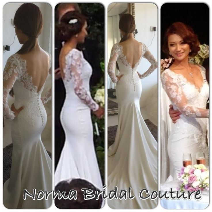2 Be Couture Wedding Dress : Norma bridal couture wedding dress with lace sleeves and v back mi