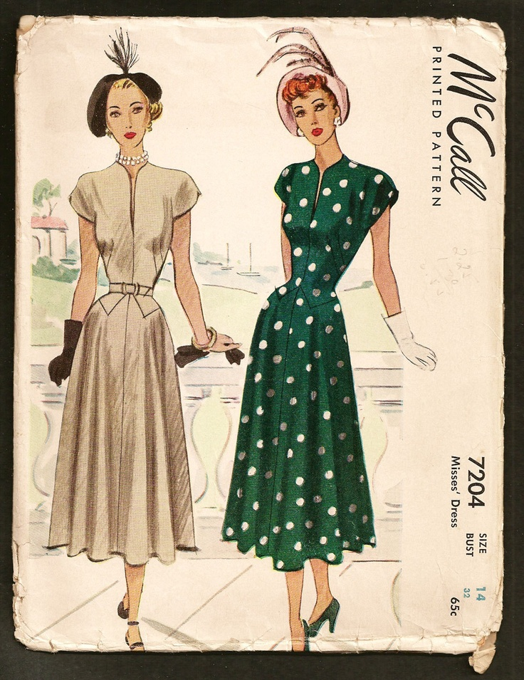 vintage 1940s mccalls sewing pattern lucille ball dress