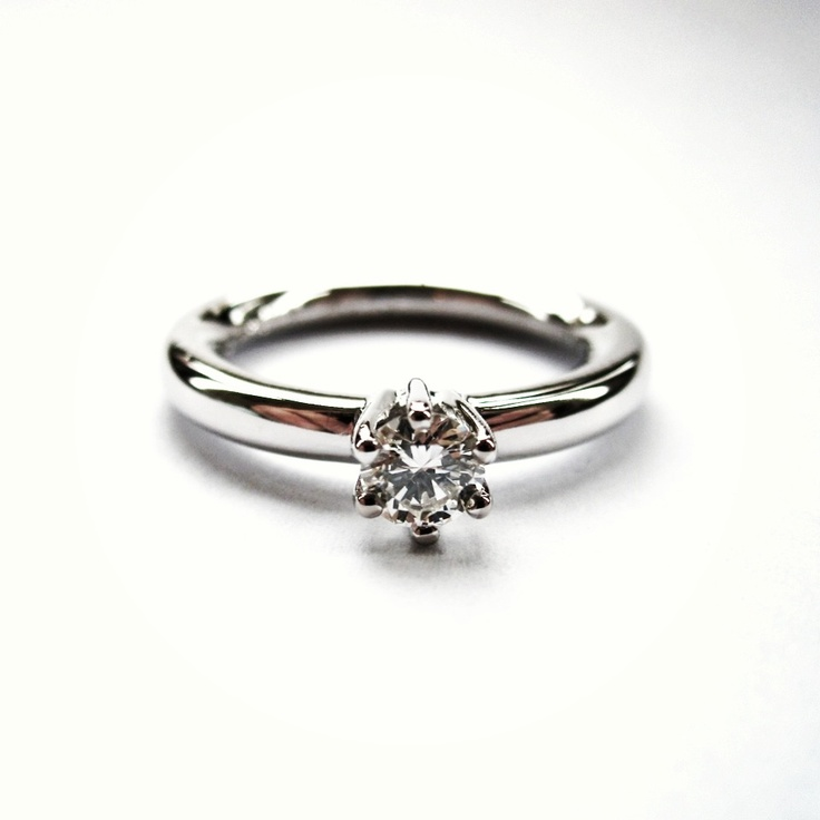 Wedding ring, white gold Diamond ring.