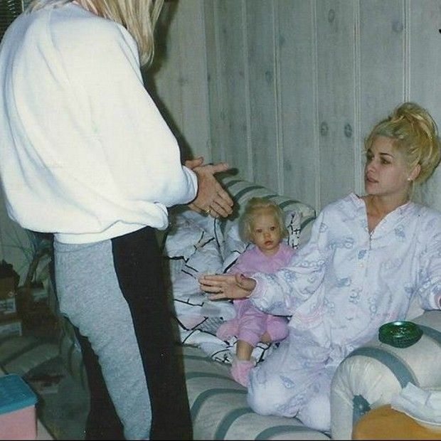 Jani Lane (Warrant), Bobbie Jean Brown and their daughter ...