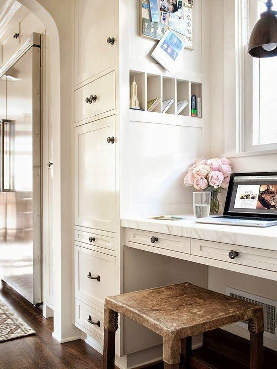 Computer Blog Spot Place For Blogging Deliciously Organized Kitchen Desksin Kitchenkitchen Desk