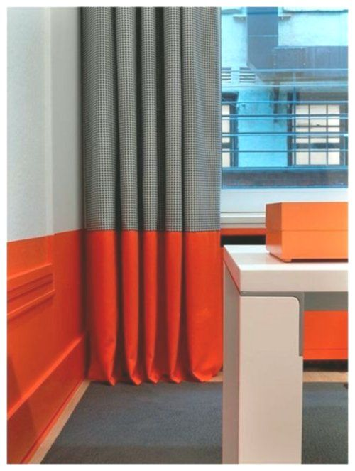 Bright Bold Color Stripe Along Bottom Of Wall Same Contrasting Color To That Painting All Tools And Paintable Furniture Cool Curtains Curtains Pb Kids Curtains