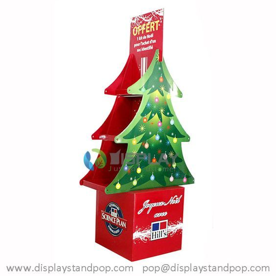 Standlautsprecher Karton Weihnachtsbaum Display mit Regalen für Werbung: