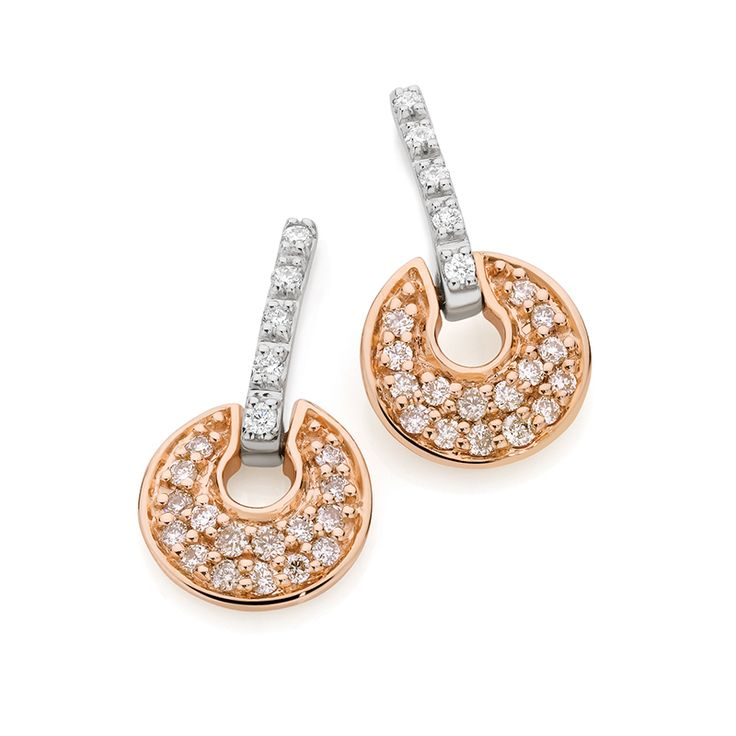 Dreamtime 9ct White and Rose Gold Diamond Earings.  http://www.showcasejewellers.com.au/dreamtime-9ct-white-and-rose-gold-diamond-earings-sj2918/Y/Y