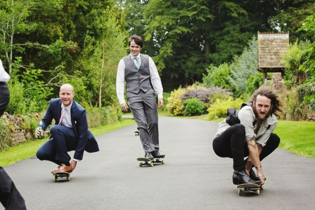 How Caple Court Wedding with a skateboarding theme | Herefordshire Wedding Photography photo by Gemma Williams Photography www.gemmawilliamsphotography.co.uk #skateboard #groom #wedding