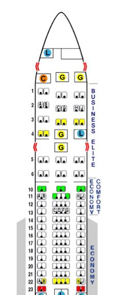 Find the best seats on your flight with Seat Guru.