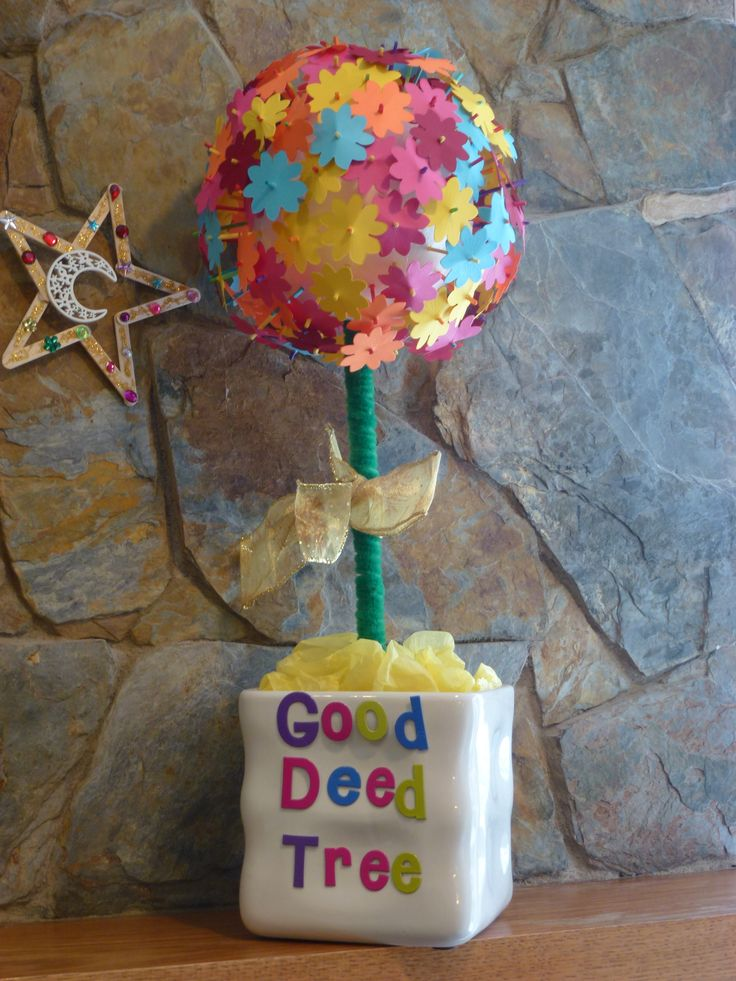 Good deed tree islamic crafts activities pinterest for Ramadan decorations at home