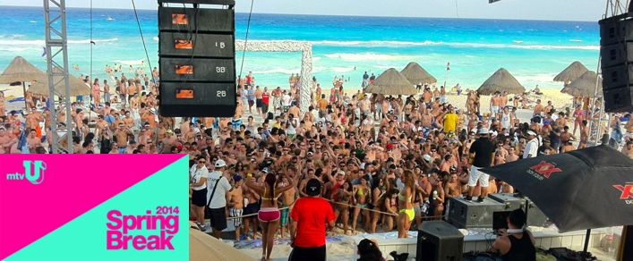 MTV U has announced the Oasis Cancun resort in Mexico to be Spring break 2014 headquarters from March 19- 25th, 2014. The Oasis Cancun is booking up fast for spring break 2014.  Contact STS Travel to book or get more information at 1-800-648-4849