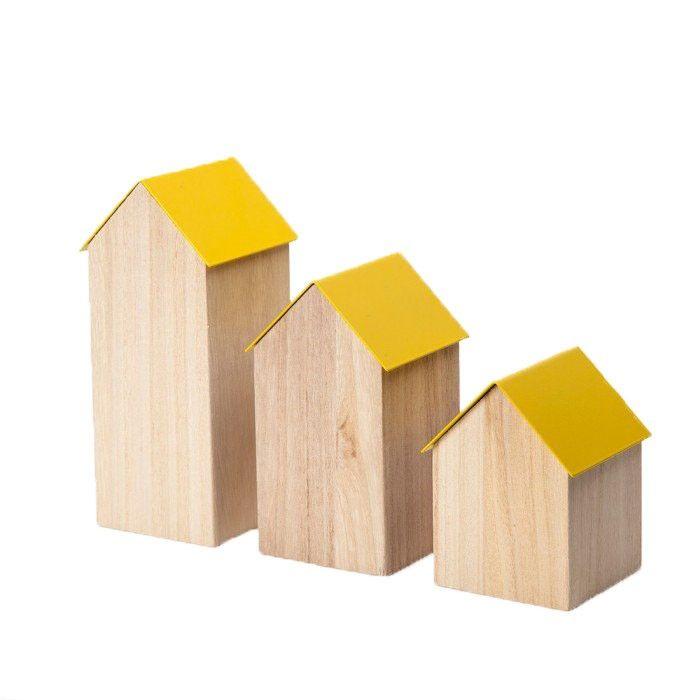 Contenitore Casetta Gialla by Block Design