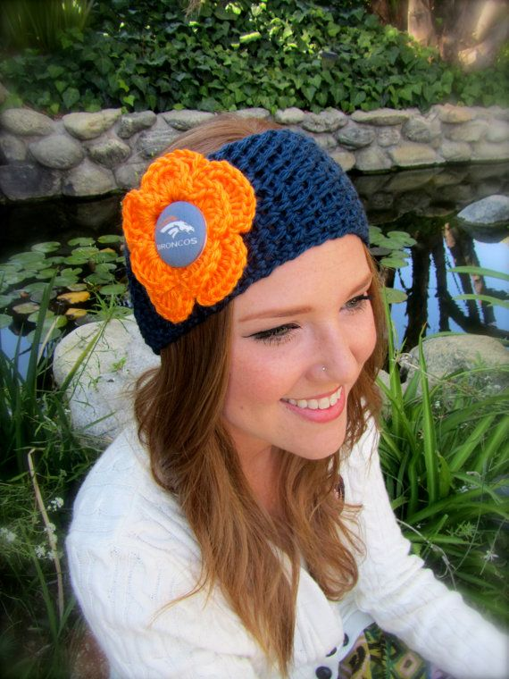 Denver Broncos Headband / Earwarmer by uniquelyyourscouture, $15.00