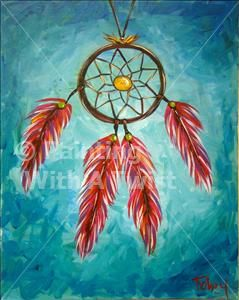 Dream catcher painting dream catchers and catcher on for Painting with a twist conroe