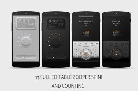 full editable Zooper rects skin for you