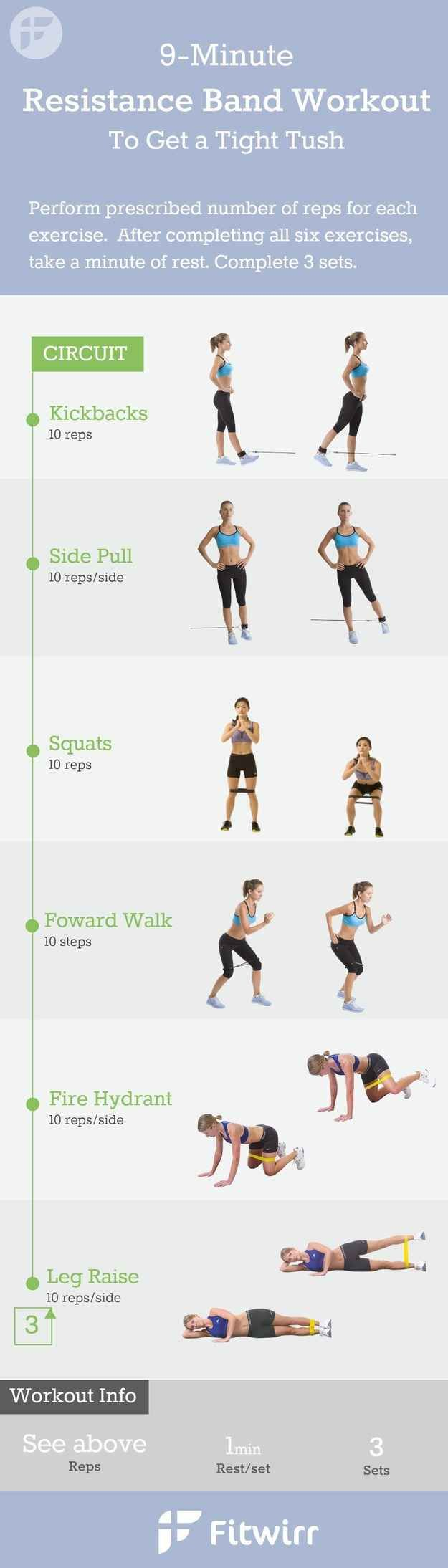 For a butt workout with equipment you can pack in your carry-on: