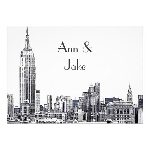 17 Best images about New York Wedding Invitations – Custom Wedding Invitations Nyc