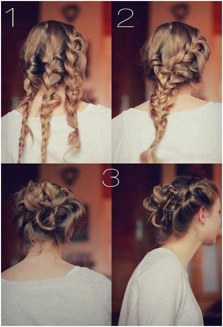 Wonderful Braided Knot Bun Updos: DIY Updo Hairstyles