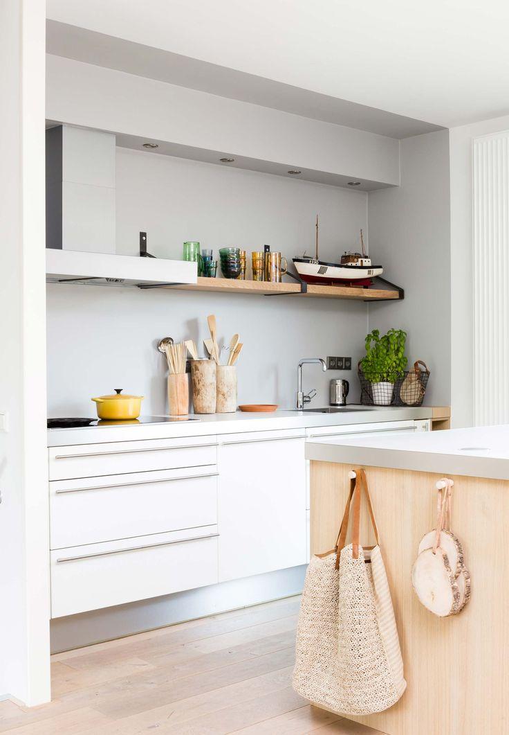 Modern White Kitchen With Scandinavian Vibe