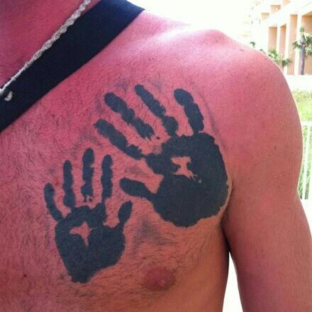 Father And Son Hand Print Tattootattoo Ideas Child Handprint