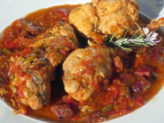 Pollo al chilindrón Ana Sevilla