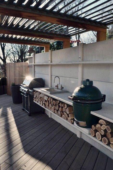 Beautiful Outdoor Kitchen Ideas For Summer Gardening The