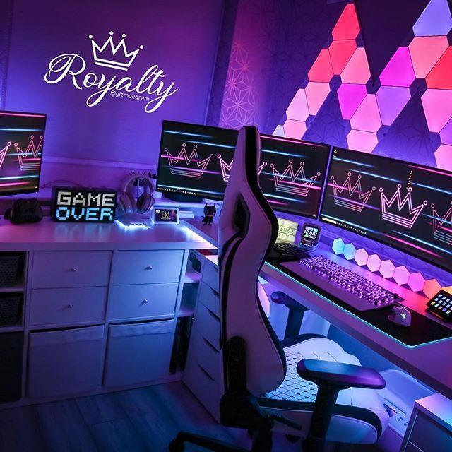 Setup Gaming Gaming Pc Gaming Console Pc Setup Game Gaming Gaming Setup Video Game Room Design Game Room Decor Video Game Rooms