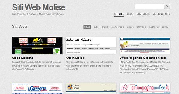 Siti Web Molise by Elio Tornincasa, via Behance