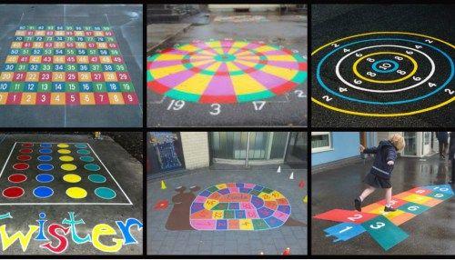 Pinta tu patio para jugar y divertirte, 50 nuevos y divertidos Juegos tradicionales para el patio del cole.