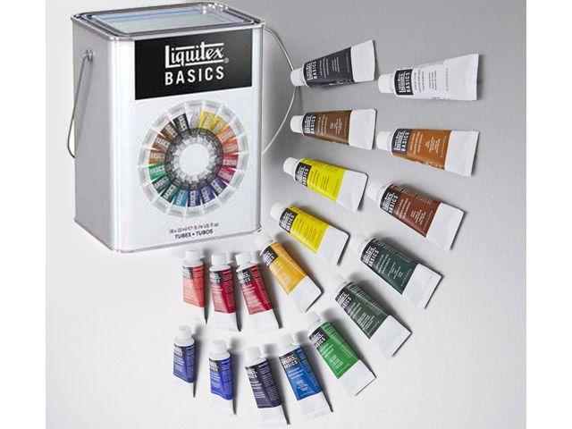 Une bonne idée cadeau : Set Acrylique Liquitex Basics 18 x 22 ml