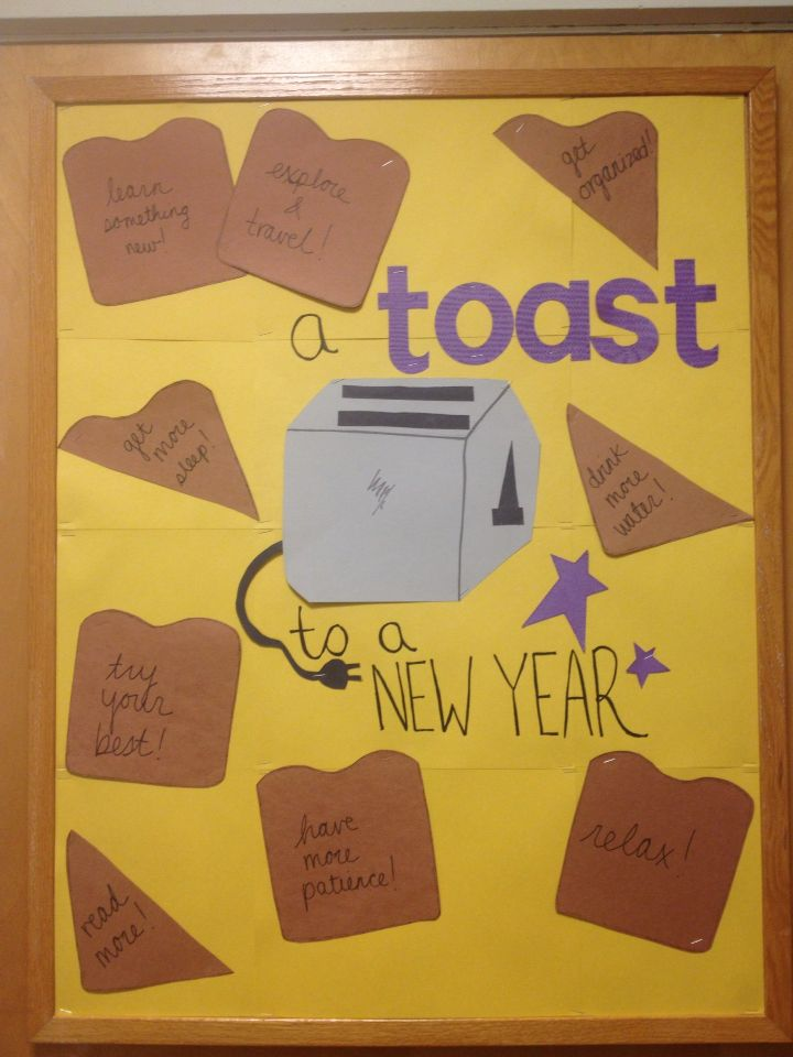 A Toast to a New Year January RA Bulletin Board