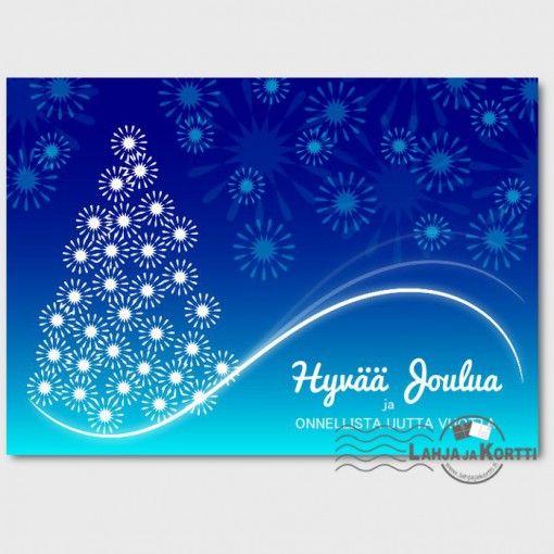 Joulukortti - Joulukuusi sinihämy