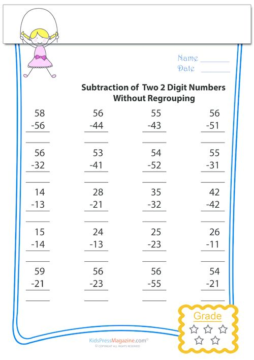 Subtraction Worksheets With Color Code | New Calendar Template Site