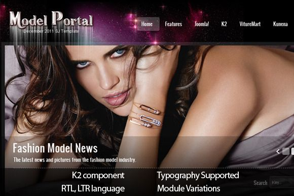 Adapt your Joomla websites to a brand-new template; more fully colored and sexier now with SJ Model Joomla Template.