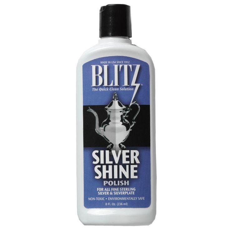 Blitz 8 Oz Silver Shine Polishing Liquid 20633 The Home Depot Shine Silver Household Hacks