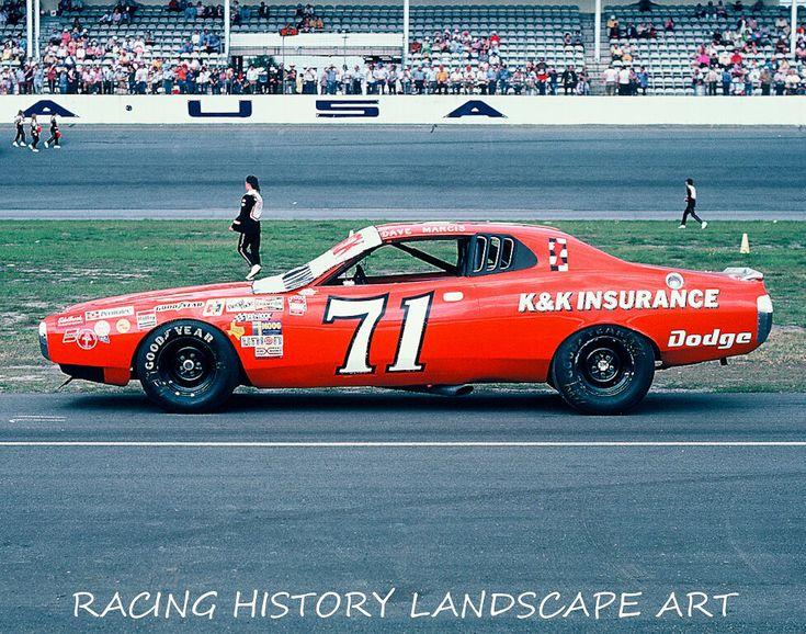 1975 daytona 500 8x10 photo 71 dave marcis kk insurance