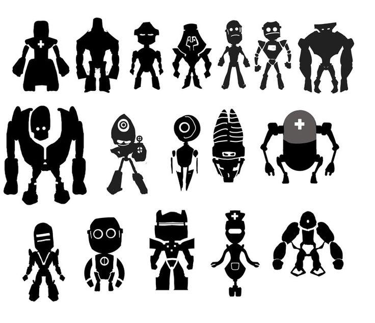 robot silhouette