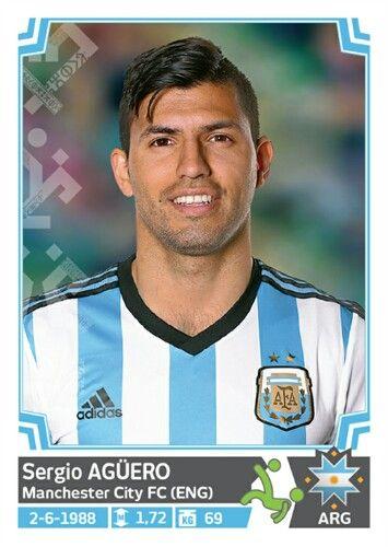 134 Sergio Agüero - Argentina - Copa America Chile 2015 - PANINI