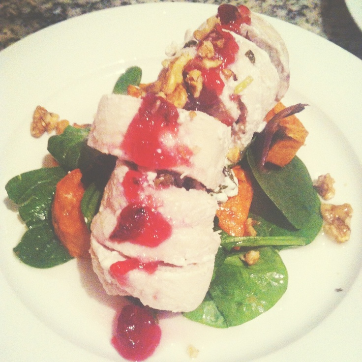 Gourmet Kitchen at home: Goats Cheese & Basil Stuffed Poached Chicken ...
