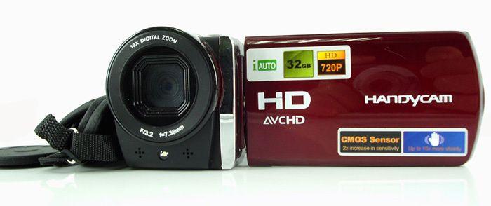 12Mp макс 5 мега датчик 1280 x 720 P HD видеокамера цифровая видеокамера с 3  цветной экран 16X цифровой зум и литиевая батарея
