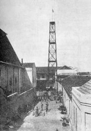Antiga torre de treinamento do Corpo de Bombeiros da Polícia Militar do Paraná.