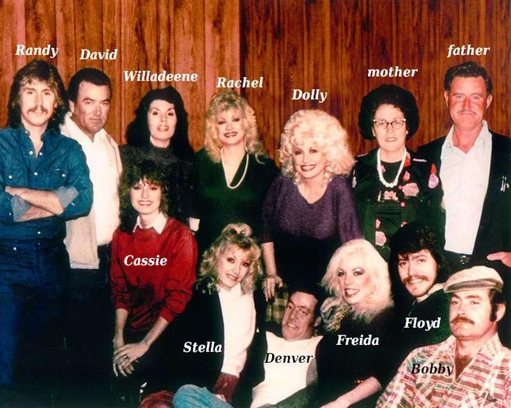 Dolly Parton`s with her sisters, brothers and parents. Dolly Parton family