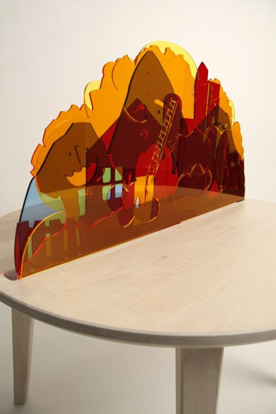 Fun table by Johanna Larsson via  Kickcan & Conkers it is so beautiful.