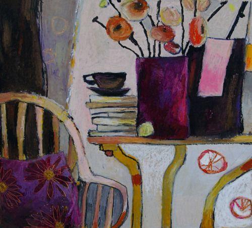 """benita-loca:    B. Garnier  """"Quiet corner""""  Oil pastel"""