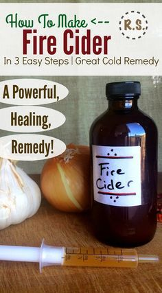 Make a powerful colds and flue remedy with this easy fire cider recipe. Fire cider is AMAZING at stopping sicknesses. Take it at the beginning of symptoms and I've often stopped a cold before it starts. An instant fire cider option is included too.