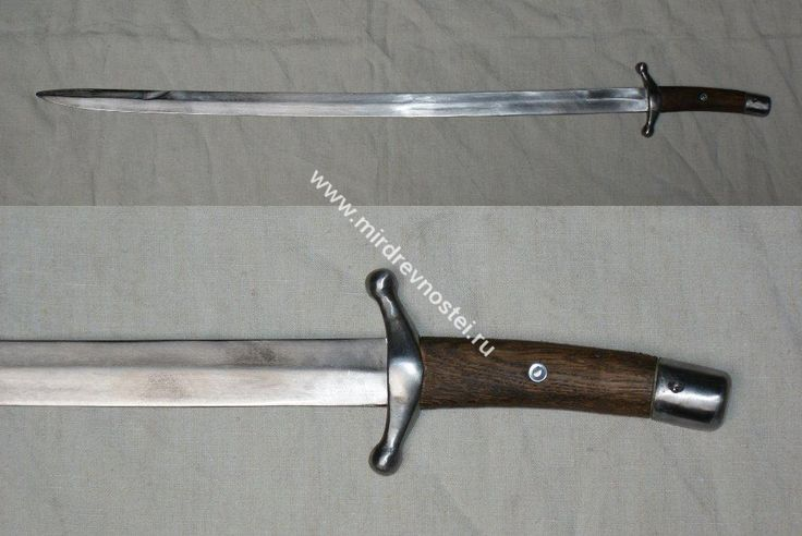 Replica sabre from Shestovitsa find 10th C. with crossguard type Ia, after Kirpichnikov's typology.  The Blade is Made of Russian High carbon spring steel alloy 65G (analogue of AISI 1066 steel).  The blade is hardened (hardness is 50 HRC).Maximum thickness of the blade near the hilt is approximately 6 mm.Thickness of the blade at the end is approximately 3.5 mm.