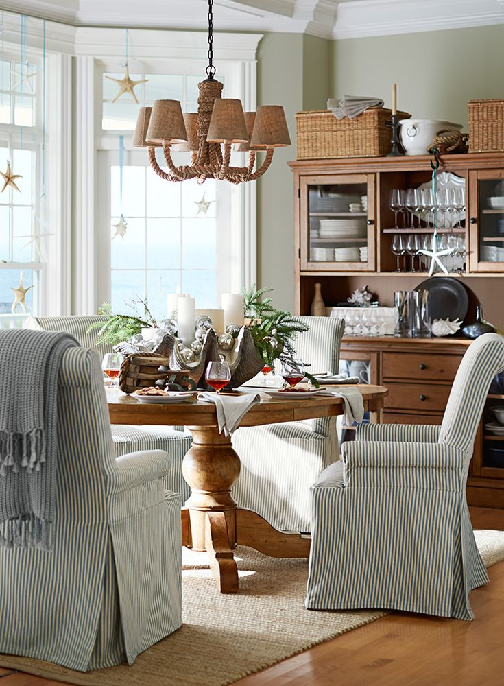 Love This Room! And Starfish Hanging In Windows. Everything Coastal.: A Sea  Shell Display For The Holidays   20 Days Of Coastal Holiday Ideas