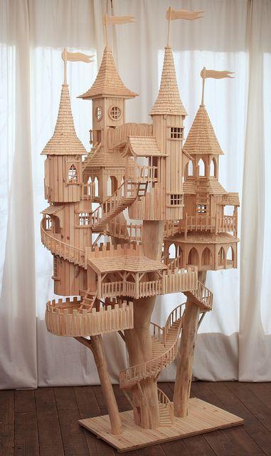 wow, sprookjes kasteel van ijsstokjes