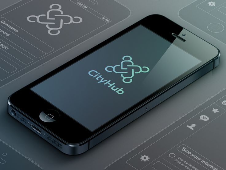 CityHub UI/iPhone App Logo by Florian Gampert (Munich)