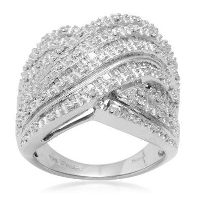 Sterling Silver Diamond Ring (1 cttw, I-J Color, I3 Clarity), Size 8 Amazon Curated Collection. $270.00
